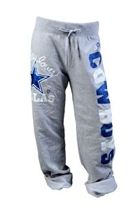 comfy sweats that go along with her fav. cowboys shirt!