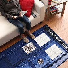ThinkGeek :: Doctor Who TARDIS Rugs