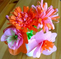 crepe paper flowers; found at 4 Crazy Kings