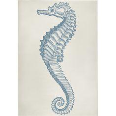 Seahorse Bath Mat in Aqua design by Thomas Paul
