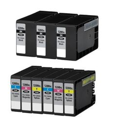 HouseOfToners Replacement for Canon PGI-1200XL Ink Cartridge 9PK - 3 Black, 2 Cyan, 2 Magenta, 2 Yellow, Pink