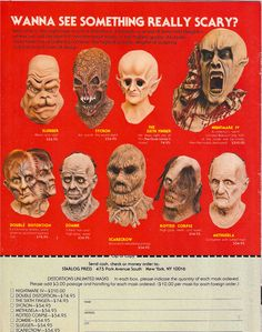 Monster mask ads: 1950s-70s - Boing Boing