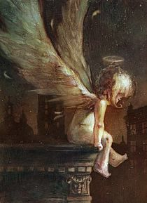 little angel - beautiful art! Angels Among Us, Angels And Demons, Angels On Earth, Fallen Angels, I Believe In Angels, Ange Demon, Angel Pictures, Mystique, Angels In Heaven