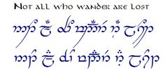 Official Tengwar Transcription Thread (and TATTOOS) - IV - The Hobbit, The Lord of the Rings, and Tolkien - The One Ring