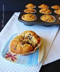 Di pasta impasta: Muffins di kamut alla banana con gocce di cioccolato e sciroppo d'acero