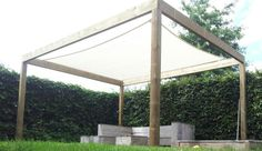 #zonnedoek #prieel #overkapping geeft schaduw in uw tuin. @tuinmani #tuinmani www.tuinmani.nl