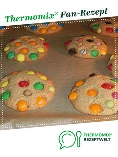 Smartie m&m Cookies von Babaluna. Ein Thermomix ® Rezept aus der Kategorie Backen süß auf www.rezeptwelt.de, der Thermomix ® Community.