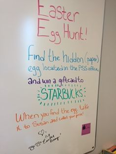 The Easter Bunny left us specific instructions for our egg hunt!