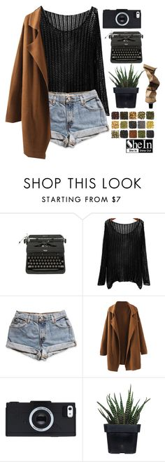 """shein"" by rarranere ❤ liked on Polyvore featuring mode, Levi's, Alöe en Aesop"