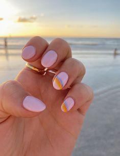 bright pastel nails, pastel nail colors pastel n. Stylish Nails, Trendy Nails, Chic Nails, Subtle Nails, Neutral Nails, Simple Acrylic Nails, Cute Simple Nails, Cute Gel Nails, Gel Nail Art