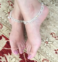 Payal Designs Silver, Silver Anklets Designs, Silver Payal, Anklet Designs, Silver Ankle Bracelet, Ankle Jewelry, Silver Toe Rings, Ankle Bracelets, Leg Chain