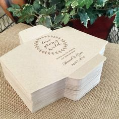 Coral Burlap /& Lace Effect Pack of Seeds Personalized Wedding Sign