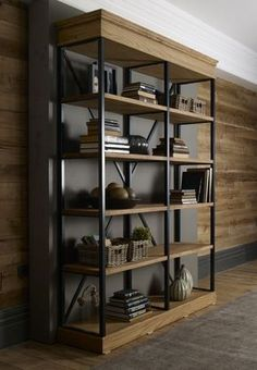 Industrial Home Furniture Options – Industrial Decor Magazine Metal Furniture, Rustic Furniture, Home Furniture, Furniture Design, Dining Furniture, Diy Rangement, Balkon Design, Log Home Decorating, Wood Wall Decor
