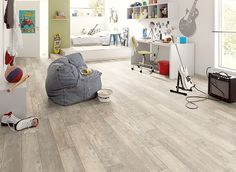 Flooring fit for a busy and active teenager. Egger laminate flooring from Germany = Classic Bardolino Oak In. Gray Wood Laminate Flooring, Types Of Hardwood Floors, Hardwood Floor Colors, Grey Flooring, Egger Laminat, Flooring Sale, Light Oak, Furniture, Home Decor