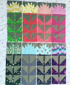 Fancy forest quilt pieces | Flickr - Photo Sharing! Thistle quilt block #fancyforest