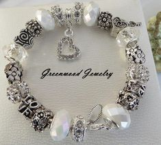 88104eba0 Classic White -Top Seller ~ Authentic PANDORA or LOVE - European Style Charm  Bracelet Lampwork Glass And Crystal Beads and Charms