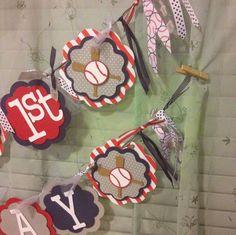 Midnight Crafting: Custom Order Banner - Play Ball!  Baseball First Birthday