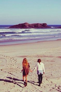 Walk along the beach side