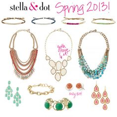 Contact Kerry O'Hern Grover to Host a Stella and Dot party and earn free jewelry! I seriously want everything in their 2013 Spring catalogue! Check it out! ----Stella and Dot new line =))   Www.stelladot.com/angelawawrzyniak
