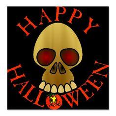 #Halloween Skull Shower Curtain