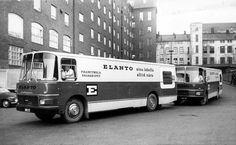 Elannon uudet myymäläautot vuodelta 1967.