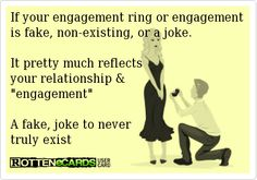 "Oh so many do not get this!! Marriage is SERIOUS & an intense commitment!! If your future spouse can't commit to saving up for a REAL ring to propose something that serious they obviously don't take you very serious! Some women need to learn their own value & expect it!! Don't even get me started on the ""joke"" engagements! So pathetic!"