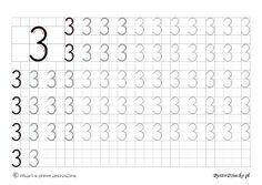 Nauka pisania cyferek dla dzieci – szablony z dużą czcionką « Bystre Dziecko