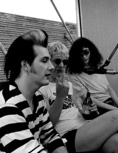 Dave Vanian, Sensible Captain, Joey Ramone.