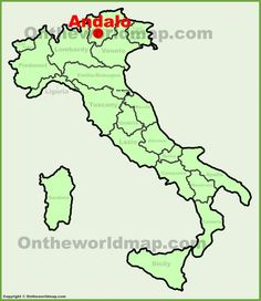 Andalo location on the Italy map