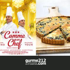 Bu haftaki film yemek önerimiz; Comme un chef –The Ceff  - Ispanaklı Kiş  Yemek yapmak sizin için bir tutku ise, Jean Reno'nun üç Michelin yıldızlı ünlü bir aşçıyı canlandırdığı Comme un chef –The Ceff film, izlerken sizi gülmekten kırıp geçirecek.