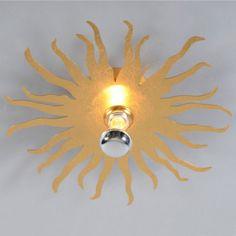 Wand- oder Deckenleuchte Cecilio gold  #Lampe #Light #einrichten #Innenbeleuchtung #wohnen #Leuchte #Herbst #Wohnzimmer #Diele #Deckenleuchte