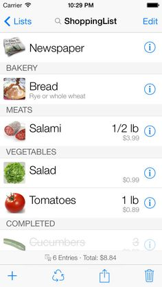 SAVE $0.99: ShoppingList for iPhone & iPad gone Free in the Apple App Store. #iOS #iPhone #iPad  #Mac #Apple