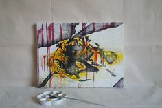 Selling out fast! Evil is A Matter • Vibrant yet Disturbing Original Abstract Art. Dark Art. Negative Space, Yellow and Black Hornet Wasp. Nature Wall Art. https://www.etsy.com/listing/540284719/evil-is-a-matter-vibrant-yet-disturbing?utm_campaign=crowdfire&utm_content=crowdfire&utm_medium=social&utm_source=pinterest