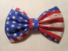 US Flag Hair Bow, Girls Hairbow,  Fabric Hair  Bow