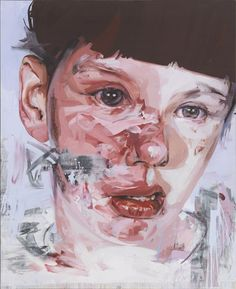 Jenny Saville, Red Stare Head II, 2011.  Oil on canvas, 106-1/2 x 85-5/8 inches.  © Jenny Saville. Courtesy Gagosian Gallery. Photography by Mike Bruce