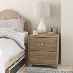 MOLE: This simple design is perfect for burying away treasures, teeth and letters to the tooth fairy. And the reclaimed fir and vintage-feel shell handles make it super special. Looks great with our Woody bed. #bedside #bedroom
