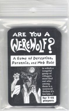 Are You A Werewolf? Just bought this card game today.