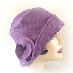 Winter Spring Fall --Ladies Cloche Hat, Warm Fleece-- The Eleanor