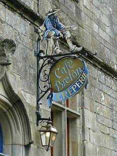 Café breton -  Crèperie à Rochefort-en-Terre, Morbihan - Bretagne