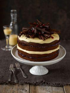 Schoko-Biskuit-Torte mit Eierlikörcreme