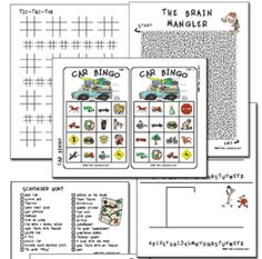 Printable games for long car rides...
