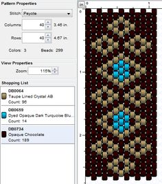 Diagrams + peyote tutorial with spinning top for cuff bracelet - From idea to workshop - Diagrams + peyote tutorial with spinning top for cuff bracelet - Peyote Beading Patterns, Peyote Stitch Patterns, Bead Embroidery Patterns, Beaded Bracelet Patterns, Bead Loom Patterns, Loom Beading, Art Patterns, Weaving Patterns, Knitting Patterns Free