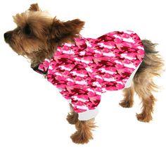 Small Dog Hoodie Sweatshirt - Pink Camouflage