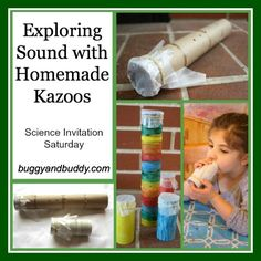 Exploring Sound with Homemade Kazoos {Science Invitation Saturday}
