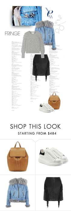 """Happy Weekend"" by shoptillyadrop ❤ liked on Polyvore featuring Mansur Gavriel, Alexander McQueen, Yves Saint Laurent and Eleven Six"