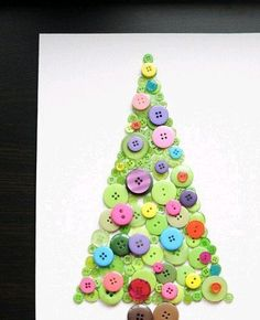 Christmas tree from button