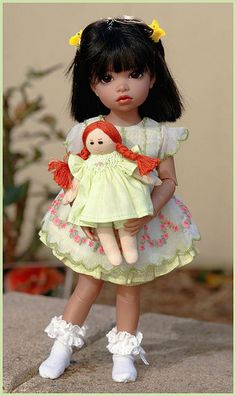 Athelie loves her dolly Maddie! by Airelda, via Flickr