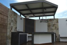 Pergola Kit Home Depot Info: 9900177809 Outdoor Barbeque, Outdoor Kitchen Patio, Casa Patio, Backyard Patio, Outdoor Decor, Pergola Plans, Pergola Kits, Parrilla Exterior, Roof Terrace Design