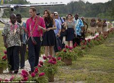 Day 7 Diamond Jubilee Tour: Prince William & Kate Middleton visit the island of Tuvanipupu. - 17 Sept 2012