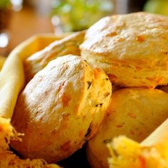 These warm and cheesy scones make an unexpected and welcome addition to any meal. Ideally suited for an Easter buffet.